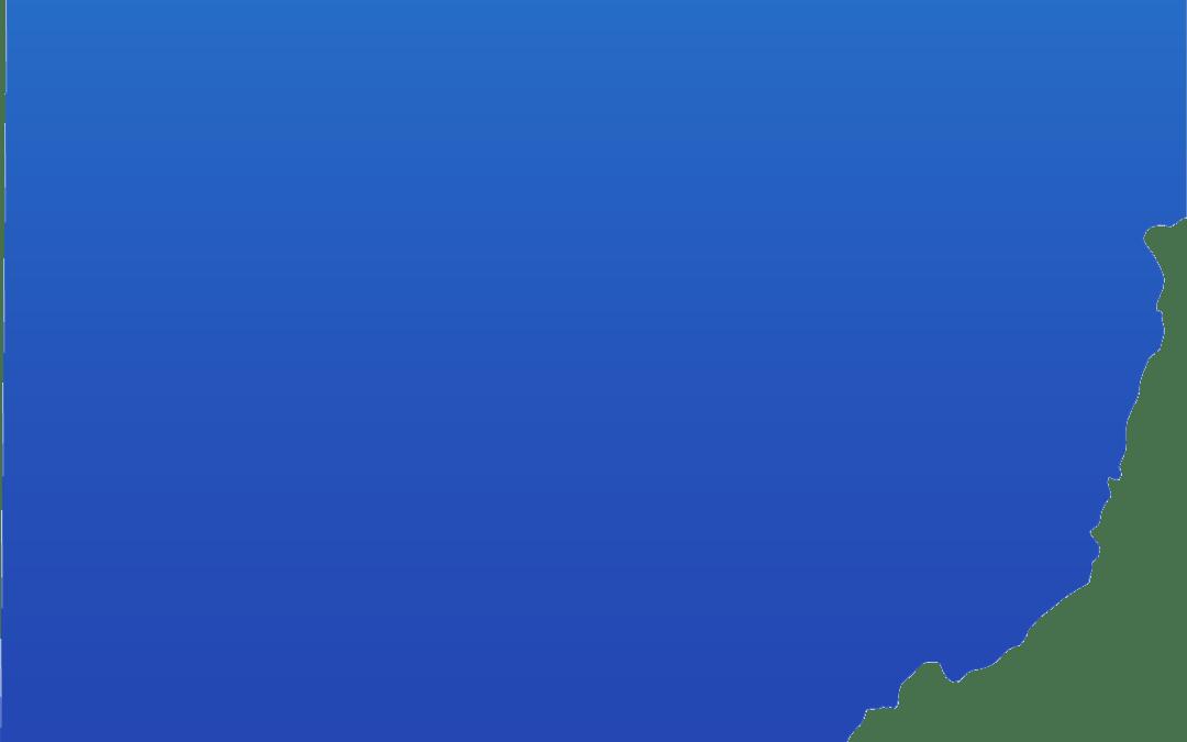 Blue Map of Ohio