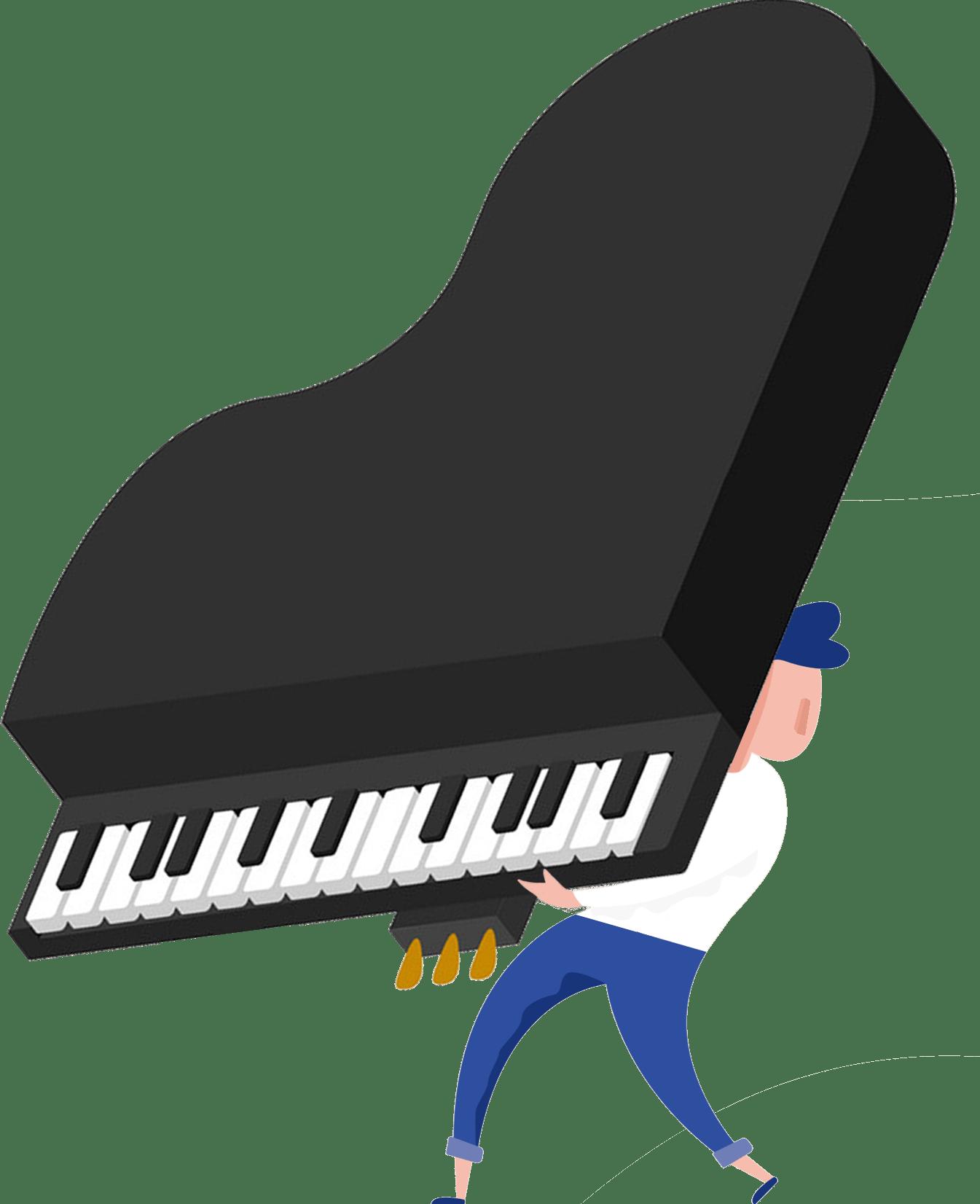 Man Carrying a Piano